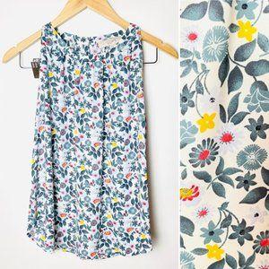LOFT Women's Sleeveless Halter Floral Shell Top